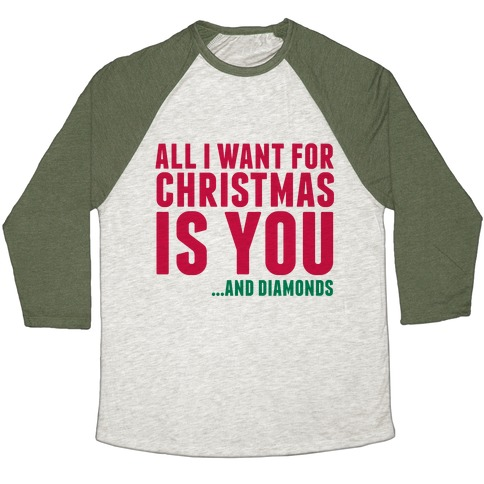 All I Want for Christmas Baseball Tee