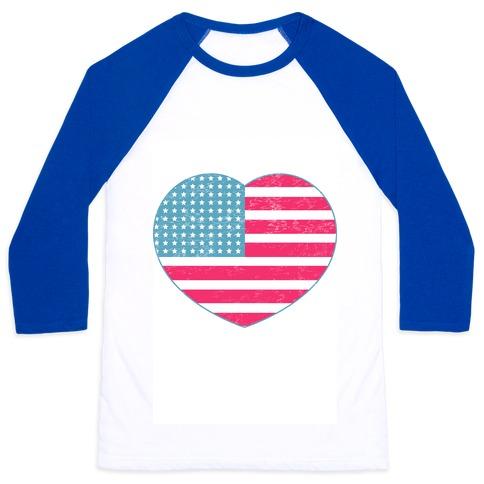 Love America (vintage) Baseball Tee
