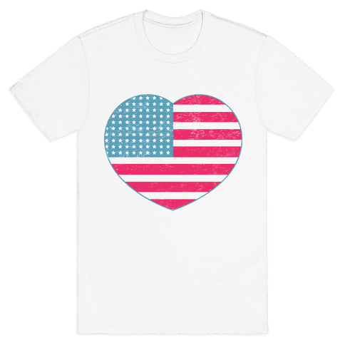Love America (vintage) Mens T-Shirt