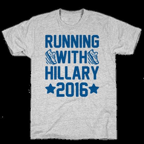 Running With Hillary 2016 Mens T-Shirt