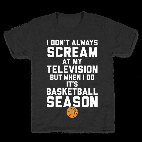 Basketball Season Kids T-Shirt