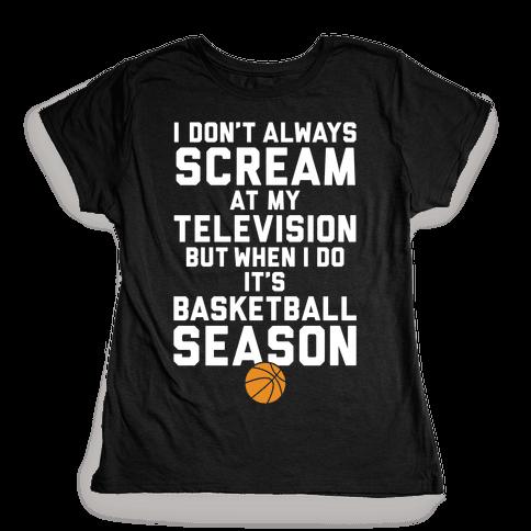 Basketball Season Womens T-Shirt