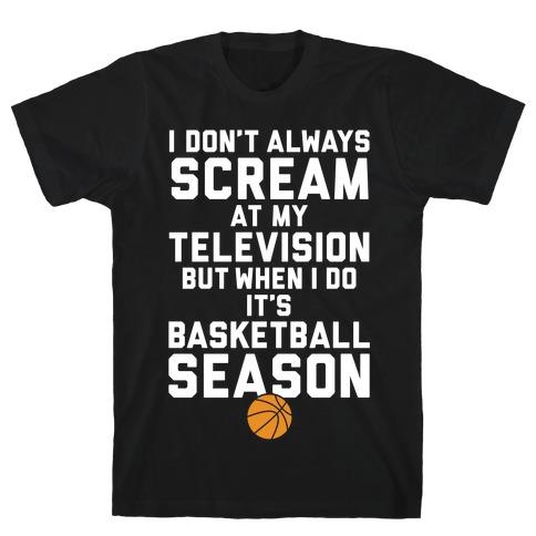 Basketball Season Mens T-Shirt