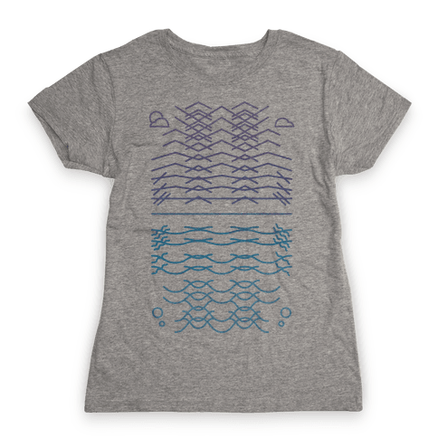 Land And Sea Womens T-Shirt