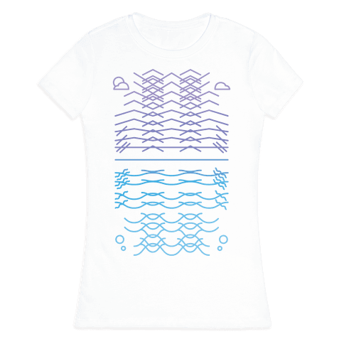 Land And Sea Womens T-Shirt