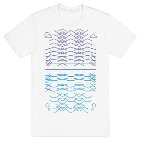 Land And Sea Mens T-Shirt