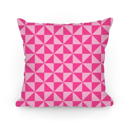Pink Large Pinwheel Pattern Pillow