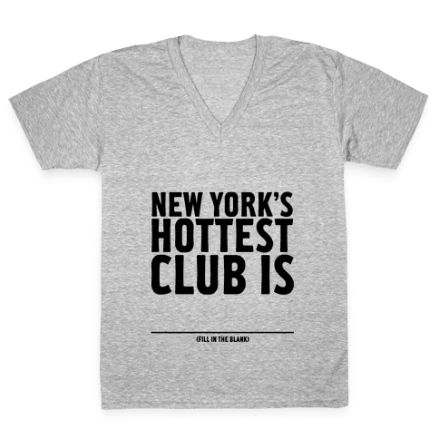 Hottest Club V-Neck Tee Shirt
