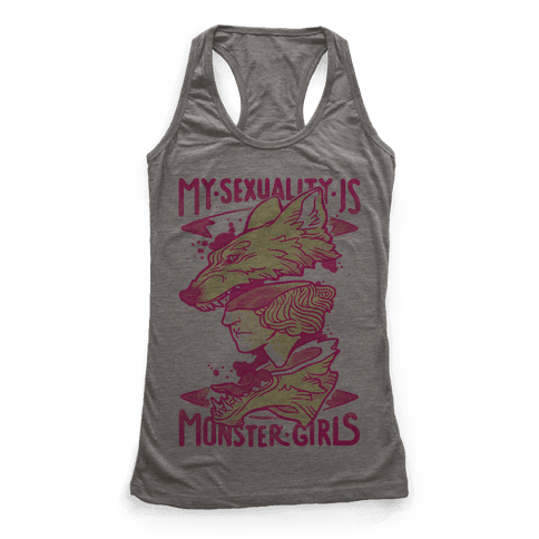 My Sexuality Is Monster Girls Racerback Tank Top