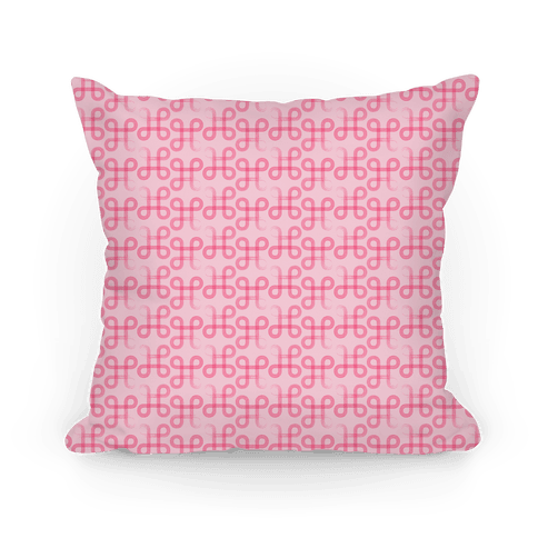 Pink Geometric Loop Pattern Pillow