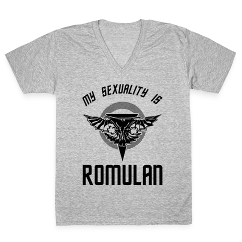 My Sexuality Is Romulan V-Neck Tee Shirt