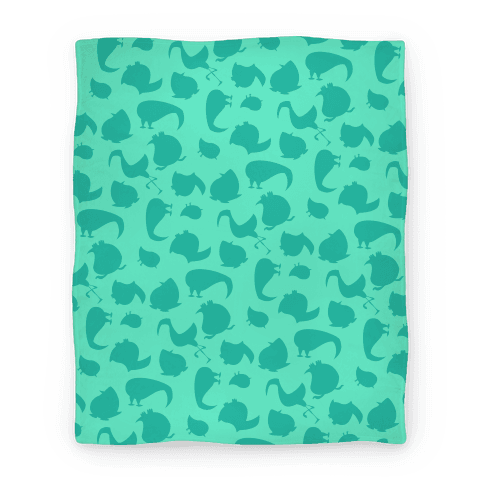 Birdie Pattern Blanket (Mint)