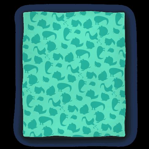 Birdie Pattern Blanket (Mint) Blanket