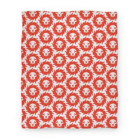 Lion Pattern Blanket (Red)