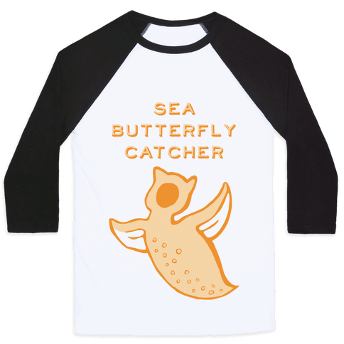 Sea Butterfly Catcher Baseball Tee