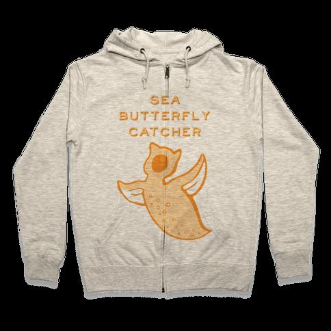 Sea Butterfly Catcher Zip Hoodie