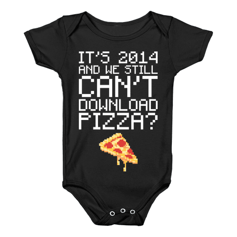 Pizza Download Baby Onesy