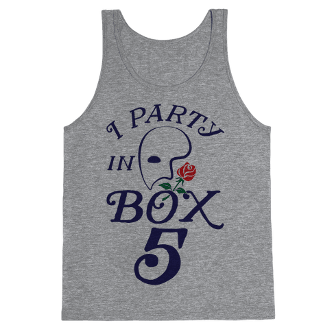 I Party In Box 5 Tank Top