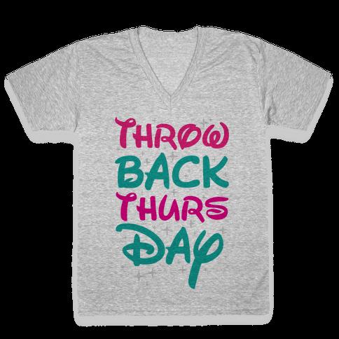 Throwback Thursday V-Neck Tee Shirt
