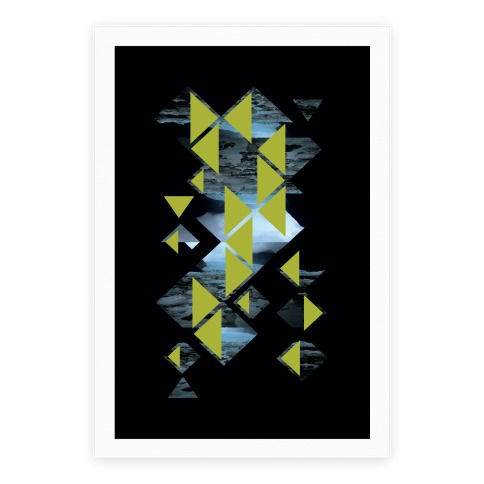 Glacier Collage Poster