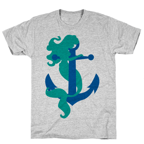 Mermaid Anchor Mens T-Shirt