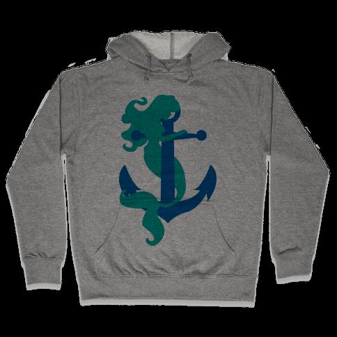 Mermaid Anchor Hooded Sweatshirt