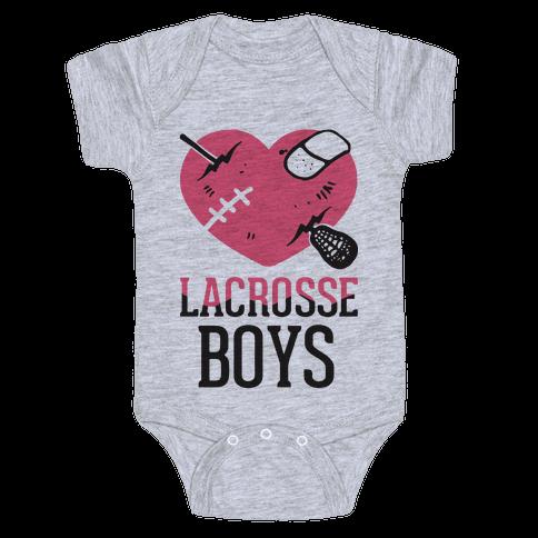 Lacrosse Boys Baby Onesy