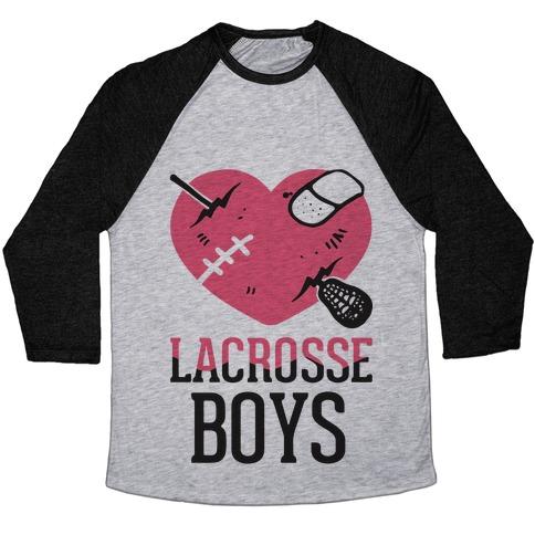 Lacrosse Boys Baseball Tee