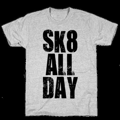 Skate All Day (Tank) Mens T-Shirt