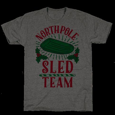 North Pole Sled Team  Mens T-Shirt
