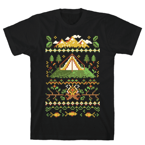 Ugly Camping Sweater Mens T-Shirt