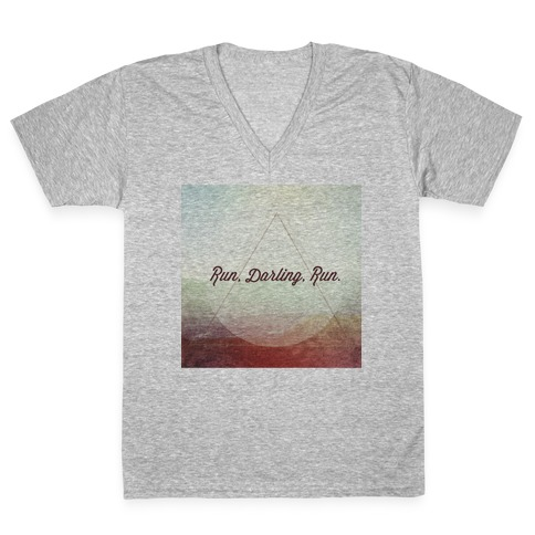 Run Darling Run V-Neck Tee Shirt