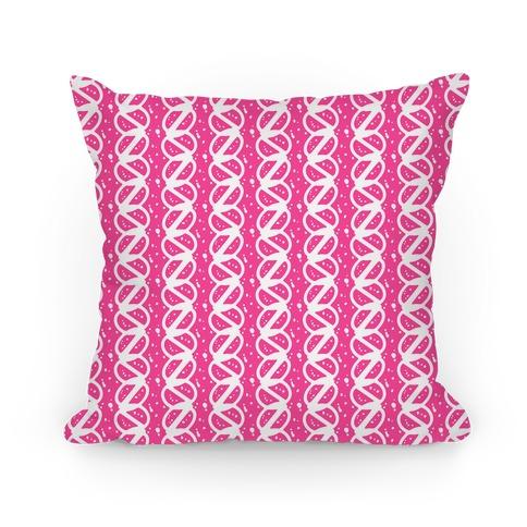 Pink Braid Stripe Pattern Pillow