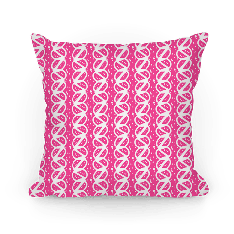 Pink Braid Stripe Pattern Pillow