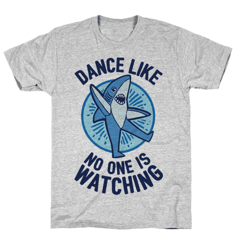 Left Shark Dances Like No One Is Watching Mens T-Shirt