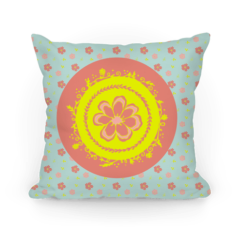 Springtime Floral Mandala (Light Blue)