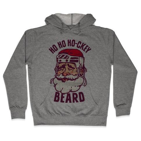 Ho Ho Ho-ckey Beard Hooded Sweatshirt