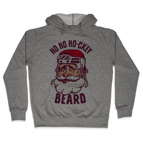 Ho Ho Ho-ckey Beard Hooded Sweatshirt
