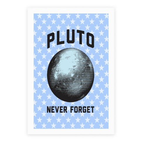 Pluto Canvas Poster