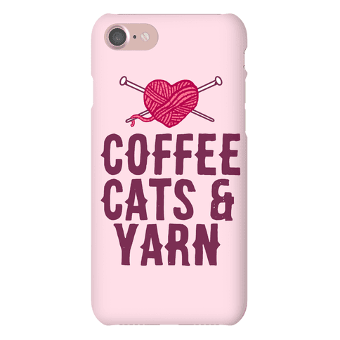 Coffee, Cats and Yarn Phone Case