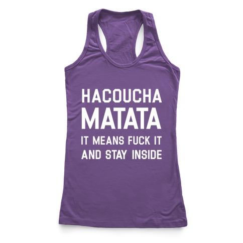 Hacoucha Matata Racerback Tank Top