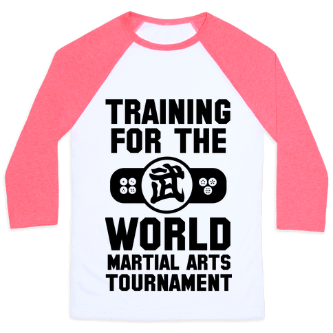 Training for the World Martial Arts Tournament Baseball Tee