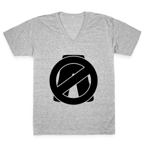 No Pants Zone V-Neck Tee Shirt