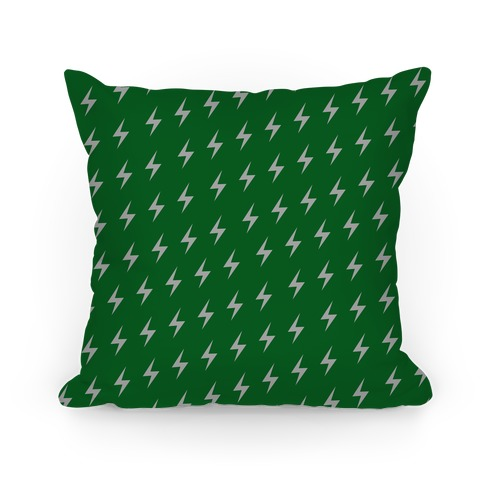 Slytherin House Lightning Bolt Pattern Pillow