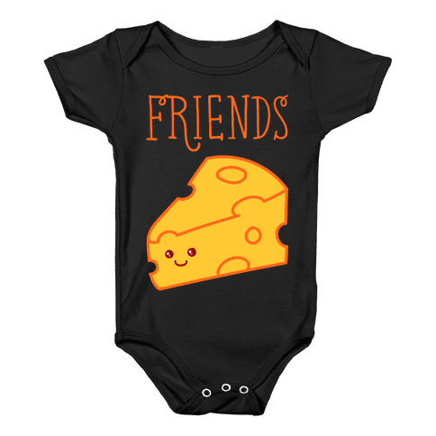 Best Friends Macaroni and Cheese 2 Baby Onesy