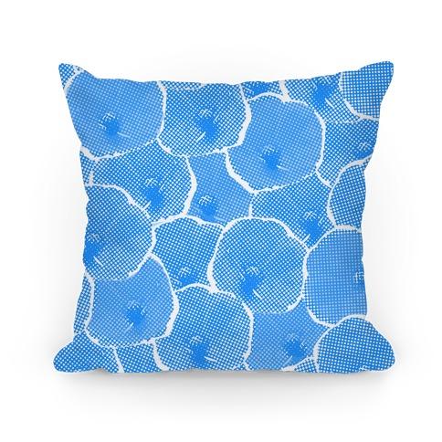 Blue Poppy Flower Pattern