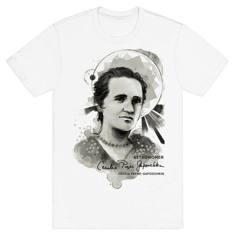 Cecilia Payne-Gaposchkin Famous Astronomer Mens T-Shirt