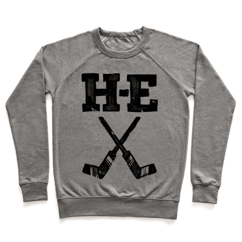 H E Double Hockey Sticks (Hell) Pullover