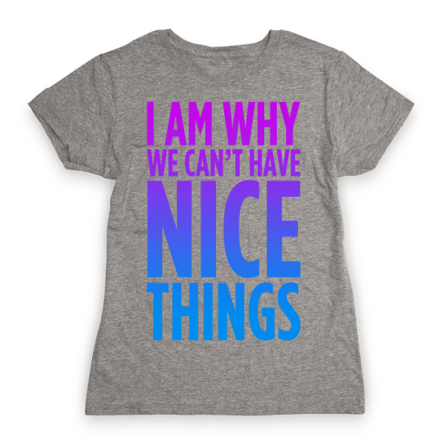I am Why We Can't Have Nice Things Womens T-Shirt