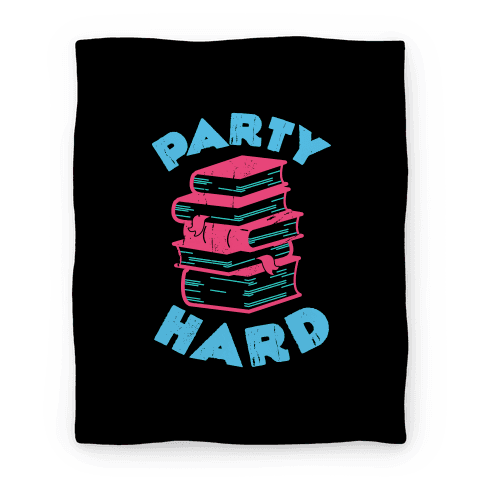 Party Hard Book Stack Blanket